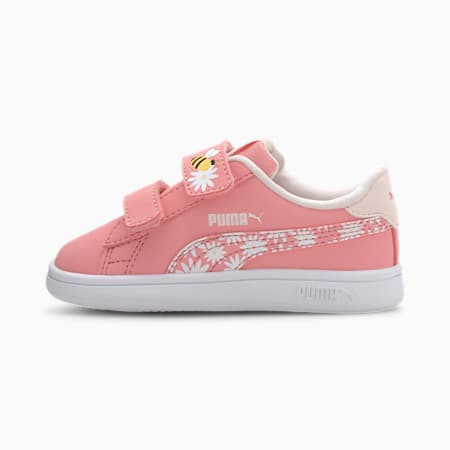 Smash V2 Bees Babies' Trainers, Peony-Rosewater-Dandelion-PW, small