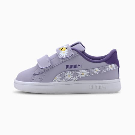 PUMA Smash v2 Bees Toddler Shoes, Purple H-Prism Violet-DD-PW, small
