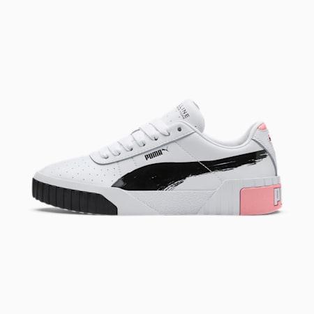 Zapatos deportivos PUMA x MAYBELLINE Cali para mujer, Puma White-Puma Black, pequeño