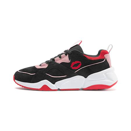 PUMA x MAYBELLINE Nova Women's Sneakers, Puma Black-Candy Pink, small