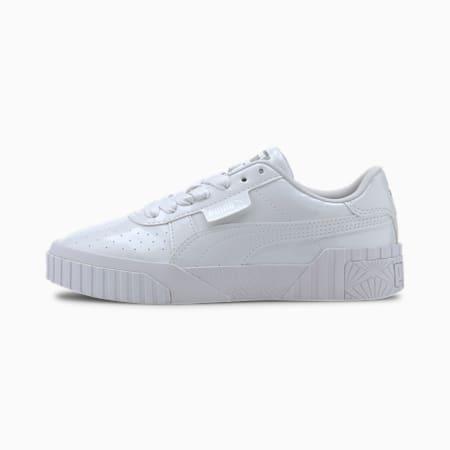 Zapatos deportivos Cali de charol para joven, Puma White-Puma White, pequeño