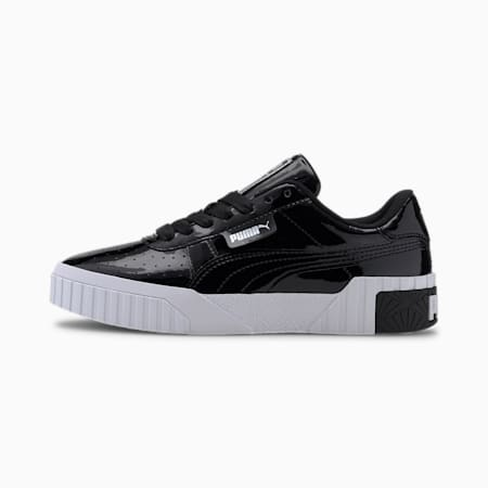 Cali Patent Girls' Trainers, Puma Black-Puma Black, small