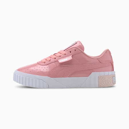 Basket Cali Patent Youth pour fille, Peony-Puma White, small