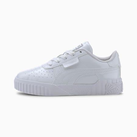 Cali Patent Kids Mädchen Sneaker, Puma White-Puma White, small