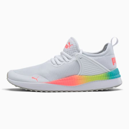 Pacer Next Cage Rainbow Women's Sneakers, Puma White-Pink Alert, small
