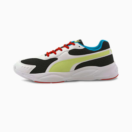 '90s Runner Sneakers, Puma Black-Sharp Green-Puma White-High Risk Red, small-IND