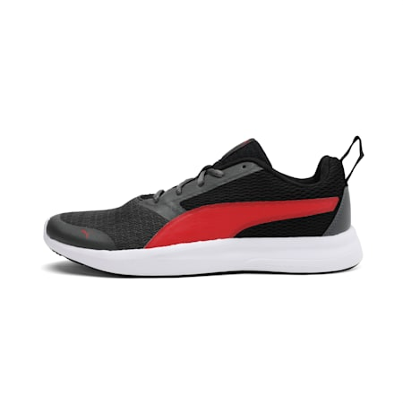 Max IDP Men's Running Shoes, Black-DarkShadow-HighRiskRed, small-IND