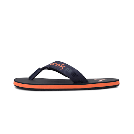 PUMA x one8 Virat Kohli Breeze GU Men's Sandals, Peacoat-Jaffa Orange, small-IND