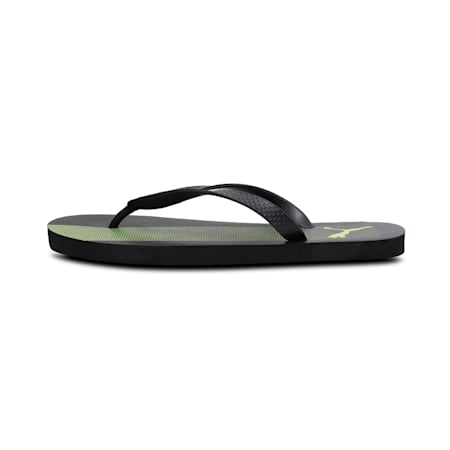 Puma one8 FF GU IDP Men's Flip Flops, Puma Black-Limepunch, small-IND