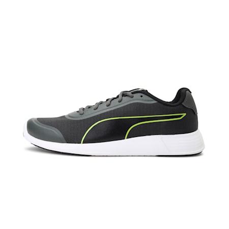 Ontario IDP Men's Running Shoes, Dark Shadow-Limepunch-Black, small-IND
