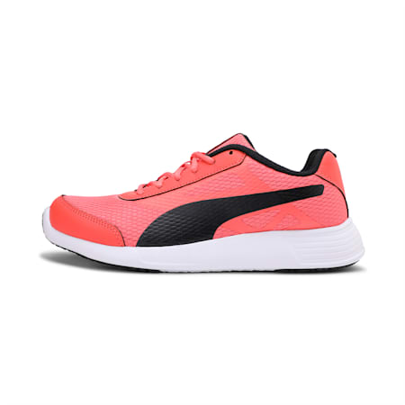 Trenzo II IDP Women's Running Shoes, Hot Coral-Puma Black, small-IND