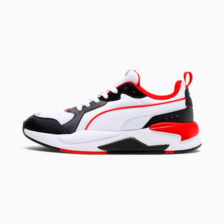 X-Ray Trainers, White-White-Black-Red-Silver, small-GBR