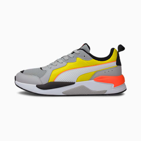 X-Ray Trainers, High Rise-White-Yellow, small