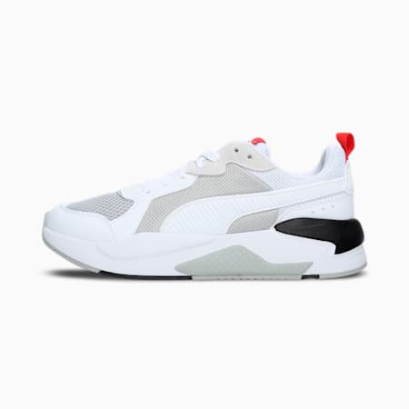 X-Ray Unisex Sneakers, Puma White-Puma White-High Risk Red-Puma Black, small-IND