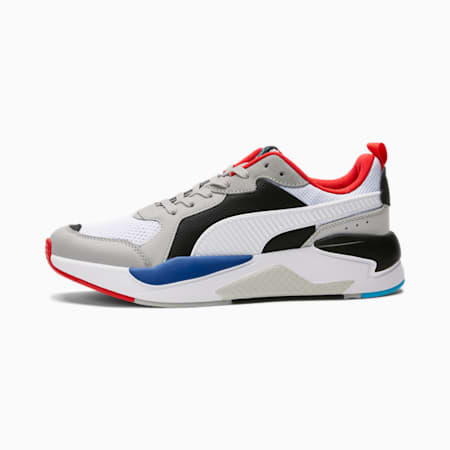 X-Ray Trainers, Gray-Whi-Bla- Red-Blue, small