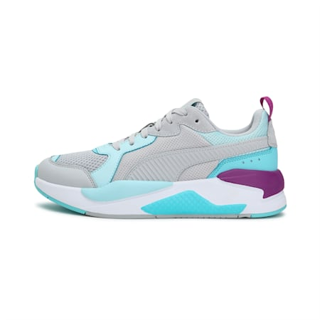X-Ray Unisex Sneakers, Gray Violet-Blue Glow-Angel Blue-Byzantium, small-IND