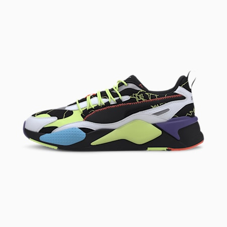 PUMA x CENTRAL SAINT MARTINS RS-X Trainers, Puma Black-Puma White, small