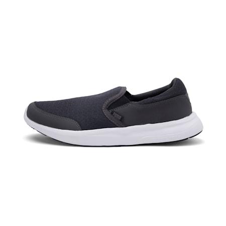 Modern Slip on IDP SoftFoam Walking Shoes, Dark Shadow-Puma Black, small-IND