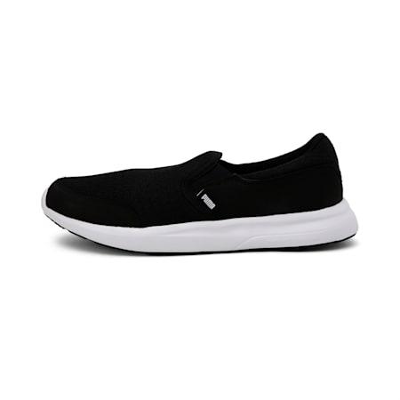 Modern Slip on IDP Unisex Walking Shoes, Puma Black-Puma White, small-IND