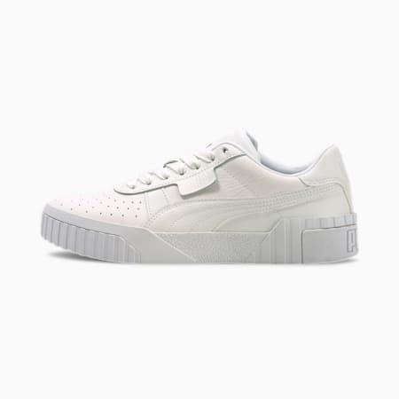 Cali Customization Women's Sneakers, Puma White-Puma White, small