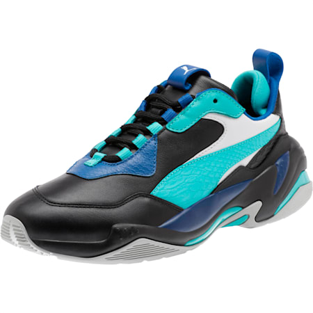 Thunder Holiday Sneakers, Black-Blue Tur-Galaxy Blue, small