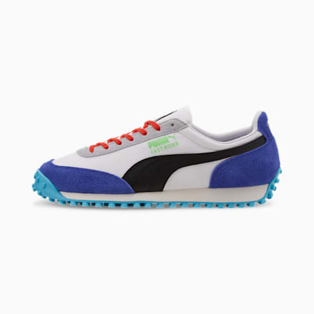Fast Rider Ride On Trainers, Puma White-Dazzling Blue, small