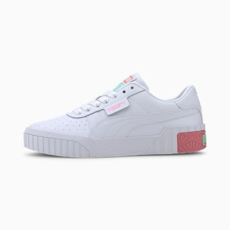 Cali Youth Mädchen Sneaker, Puma White-Peony-Mist Green, small