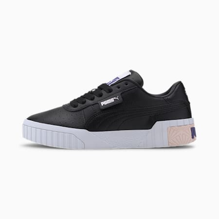 Cali Youth Girls' Trainers, PumaBlack-Rosewater-Purple, small