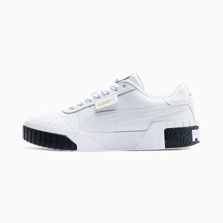 Cali Youth Mädchen Sneaker, Puma White-Puma Black, small