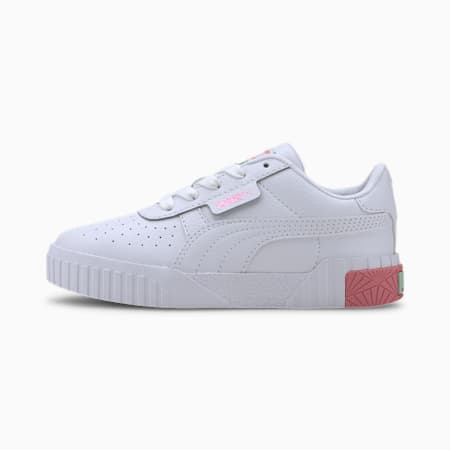 Cali Kids' Trainers, Puma White-Peony-Mist Green, small