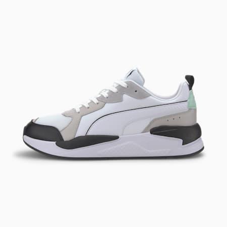 X-Ray Game Sneaker, White-Gray V-M Green-Black, small
