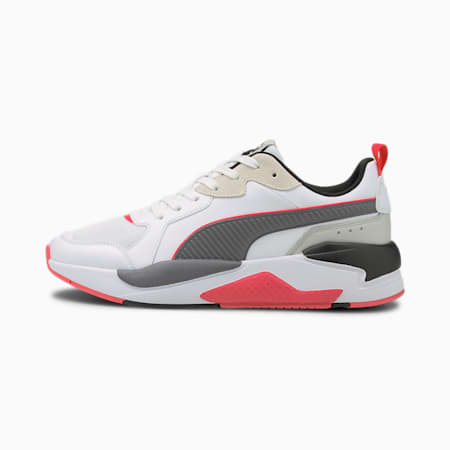 X-Ray Game Unisex Shoes, Puma White-CASTLEROCK-High Risk Red-Puma Black, small-IND