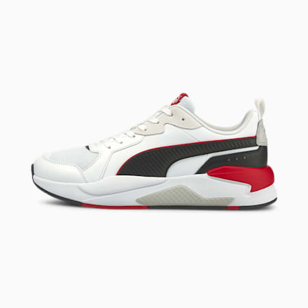 X-Ray Game Unisex Shoes, Puma White-Puma Black-Urban Red-Gray Violet, small-IND