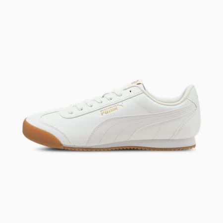 PUMA Turino FSL SoftFoam+ Unisex Shoes, Puma White-Puma White-Gum, small-IND