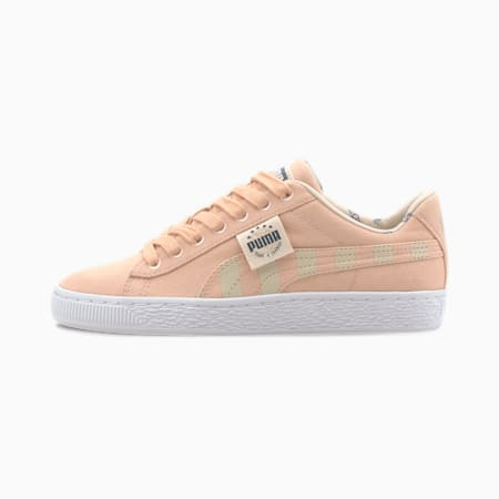 Time4Change Basket Canvas Girls' Sneakers JR, Pink Sand-Tapioca, small