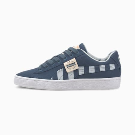 Basket Canvas T4C Youth Trainers, Dark Denim-Plein Air, small