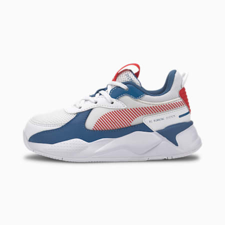 RS-X Joy Kids' Trainers, Puma White-High Risk Red, small
