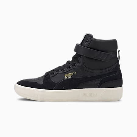Sky LX Mid Lux Trainers, Puma Black-Whisper White, small