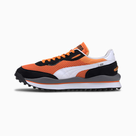 Style Rider OG Sneakers, Vibrant Orange-Puma Black, small-IND