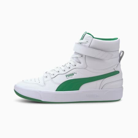 Sky LX Mid Athletic Trainers, Puma White-Amazon Green, small