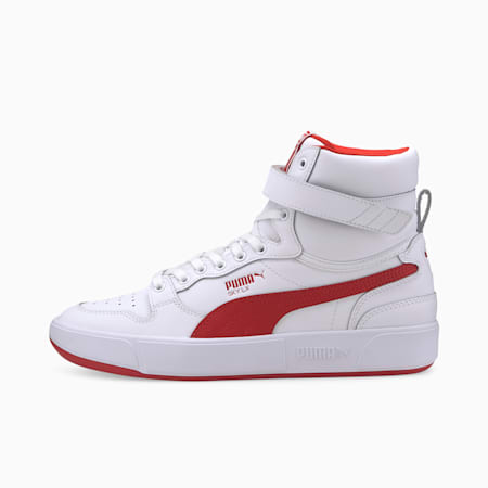 Sky LX Mid Athletic Trainers, Puma White-High Risk Red, small