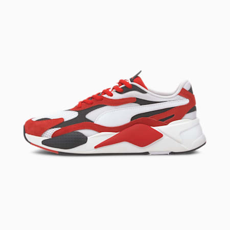 RS-X³ Super Trainers, Puma White-High Risk Red, small