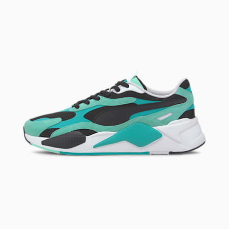 RS-X³ Super Men's Sneakers, Green Glimmer-Puma Black, small