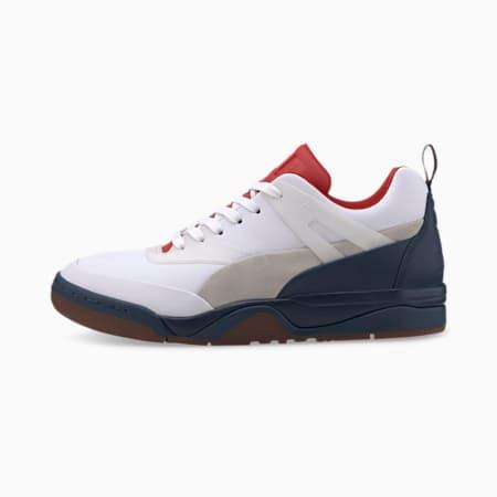 Zapatos deportivosPalace Guard Leatherpara hombre, White-High Risk Red-Dark, pequeño