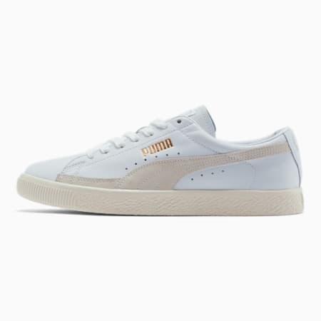 Basket 90680 Lux Men's Sneakers, Puma White-Whisper White, small