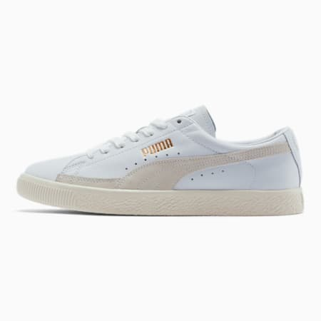 Basket 90680 Lux Trainers, Puma White-Whisper White, small-SEA