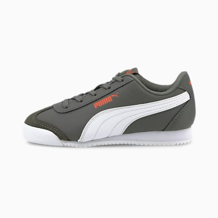 Turino Little Kids' Shoes, Gray-White-Fusion Coral, small