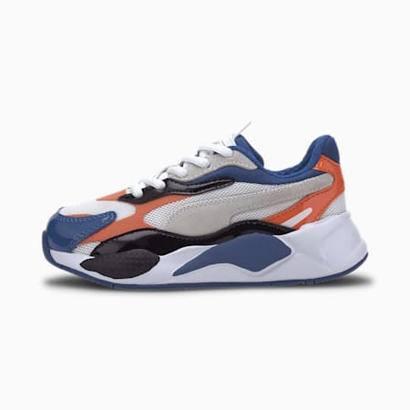 RS-X Miracle Kids' Trainers, Puma White-Firecracker, small