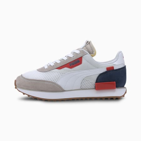Młodzieżowe buty sportowe Future Rider Stream On, GrayViolet-PumaW-DarkDenim, small