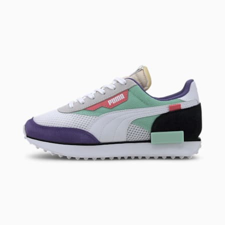Future Rider Stream On Sneakers JR, PumaWhite-MistGreen-Puma B, small